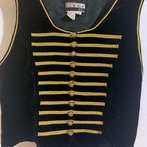 Suede Vest with gold details